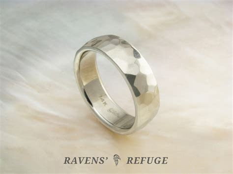 low dome wedding band   white gold comfort fit ring