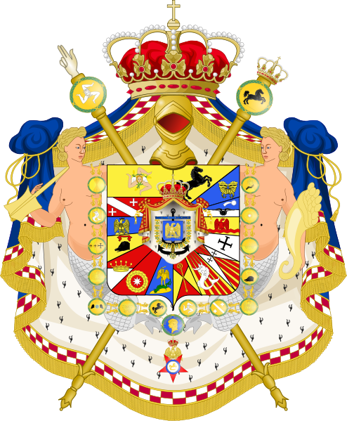 File:Great Coat of Arms of Joachim Murat as King of Naples.svg