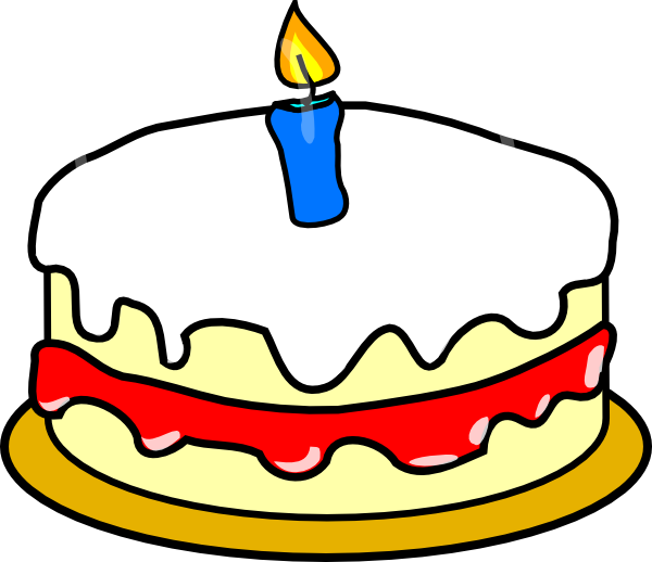 Clipart 1st Birthday Cake