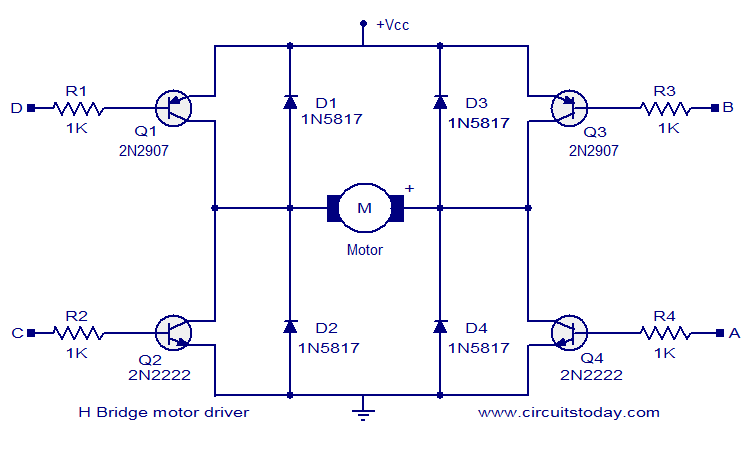 H-bridge circuit diagram
