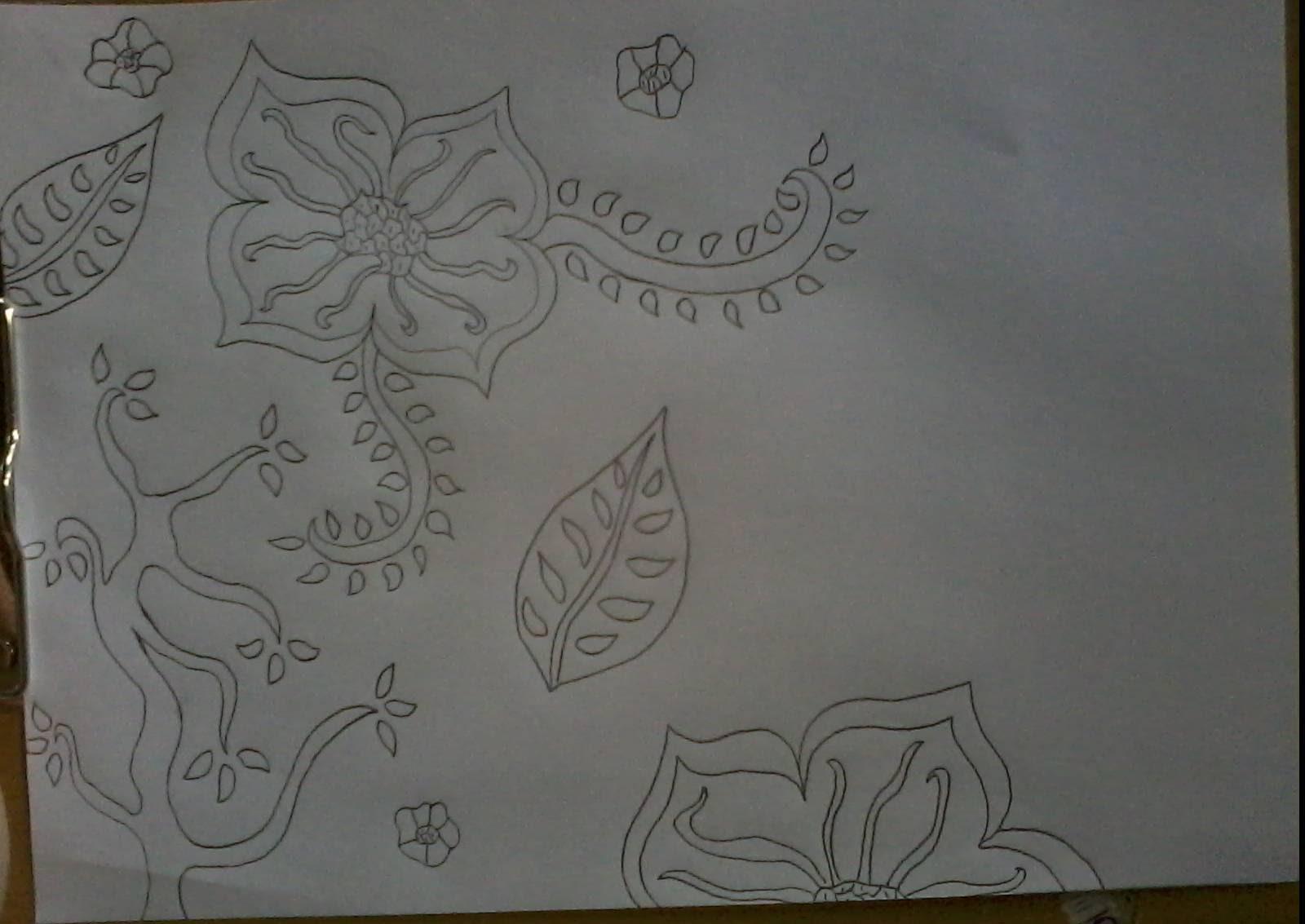 Contoh Sketsa Gambar Batik Wwwtollebildcom