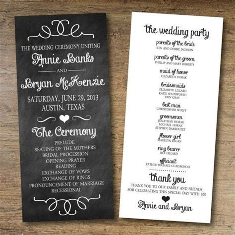 Free Wedding Program Templates   wedding   Printable