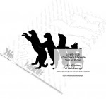 5 Dog Dance Silhouete Yard Art Woodworking Pattern - fee plans from WoodworkersWorkshop® Online Store - dogs,pets,animals,yard art,painting wood crafts,scrollsawing patterns,drawings,plywood,plywoodworking plans,woodworkers projects,workshop blueprints