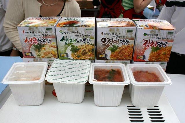 Prepacked instant food