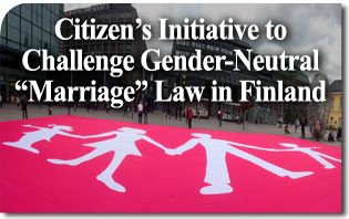 """Citizen's Initiative Raises 106,670 Signatures to Challenge Gender-Neutral """"Marriage"""" Law in Finnish Parliament"""