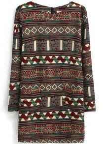 Tribal Pattern Straight Dress
