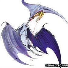 Gerald Scarfe's caricature of Margaret Thatcher - 'Torydactyl'