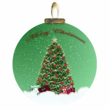 Christmas Tree Snow Globe Ornament photosculpture