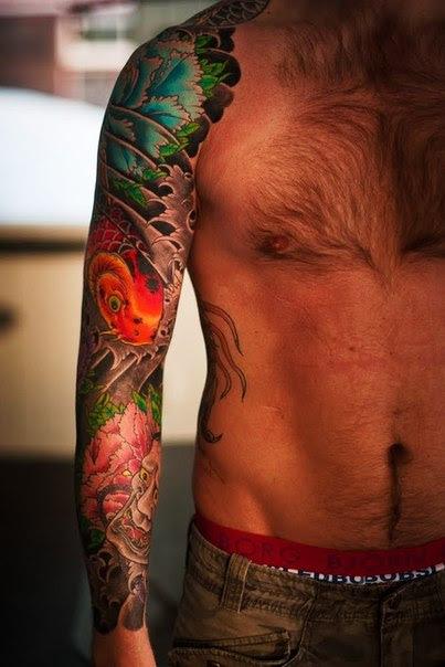 Traditional Style Japanese Tattoo Sleeve Best Tattoo Ideas Gallery