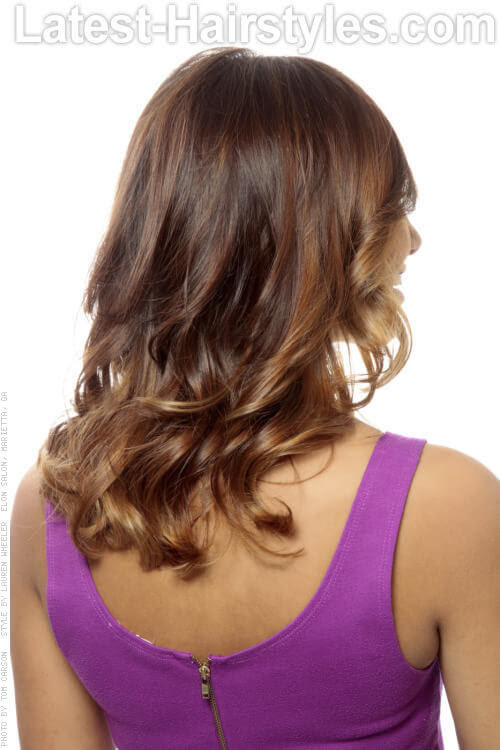 Soft Brown caliente Ombre Volver