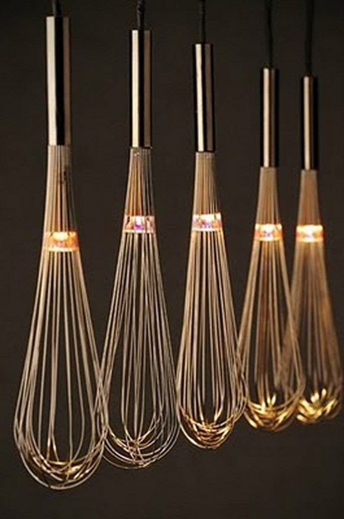 This makes me smile. Makes me want this in my kitchen. See who else smiles with me. London Design Festival | Whisk-y Lamps by Seks.