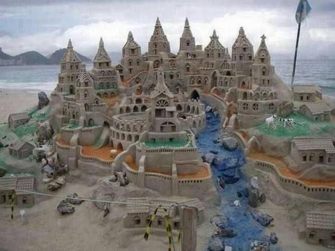 castelos de areia