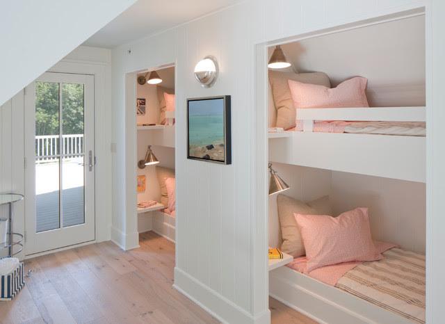 Kids Bunk Rooms - Cottage - girl's room - Francesca Owings ...