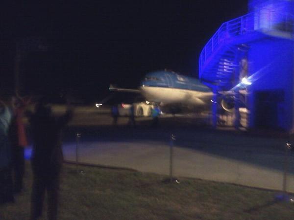 KLM KL593 departing Harare for Lusaka/Amsterdam