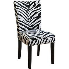 Zebra Print Parsons Chairs (Set of 2) | Inspired Dining Room.