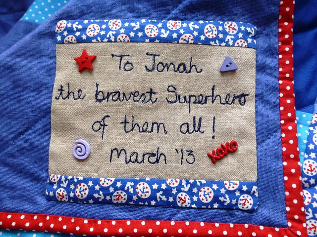 Jonah's Plus quilt Mar13 018