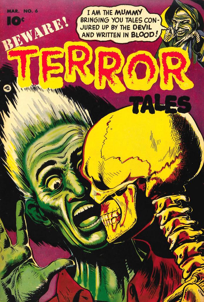 Beware Terror Tales #6 Bernard Bailey Cover  (Fawcett, 1953)