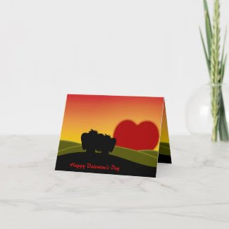 Cute Lucky Pinkie Valentine's Day Note Card