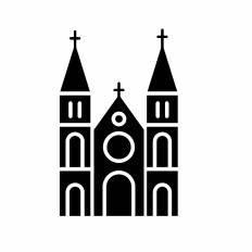 サイゴン大教会シルエット イラストの無料ダウンロードサイト
