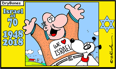Dry Bones cartoon, Israel,Yom Ha'Atzmaut, Israeli Independence day, David Ben Gurion, Nakba, mug,Jewish calendar, Gregorian calendar,