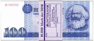 digitaler kostenloser Ostmark Hunderter Geldschein Spielgeld Geschenk