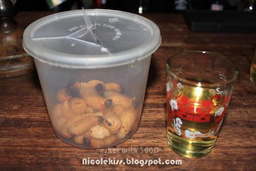 sago worms and tuak