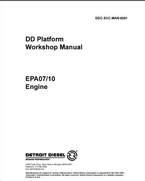 Detroit DD15 EPA07 Engine Service Repair Manual