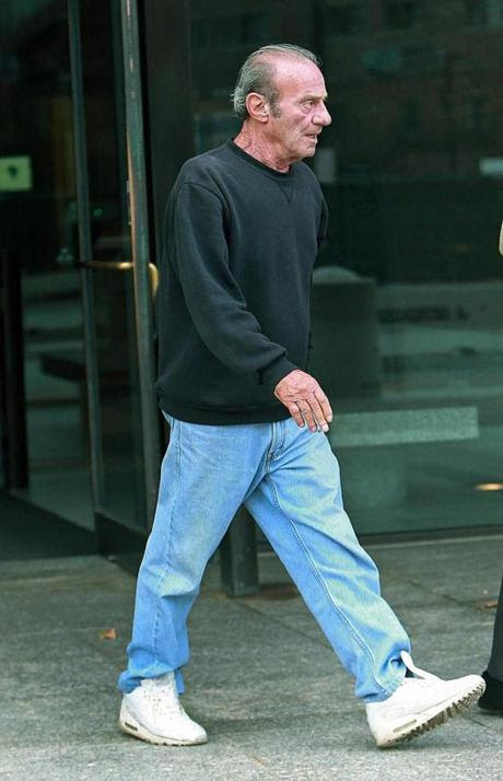 """Anthony """"Spucky"""" Spagnolo as he left the Moakley Federal Courthouse Thursday."""