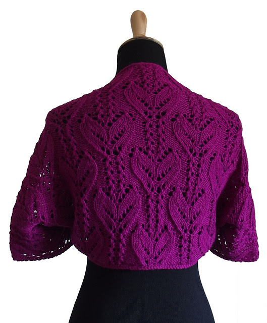 Japanese Alternating Leaf Stems Shrug Free Knitting Pattern | Knitting Patterns for Shrugs and Boleros, many free patterns at http://intheloopknitting.com/free-shrug-bolero-knitting-patterns/