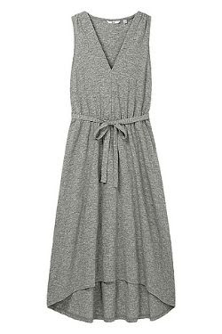 Uniqlo Slub V-Neck Dress