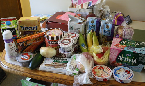 food bought on October 1, 2011