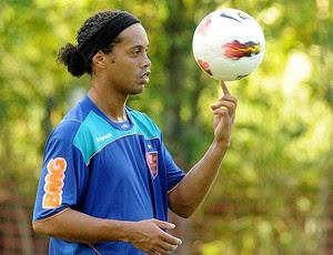 Ronaldinho Gaúcho no treino do Flamengo (Foto: Alexandre Vidal / Fla Imagem)