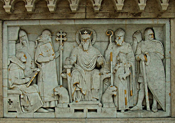 St. Stephen with Bishops and Knights