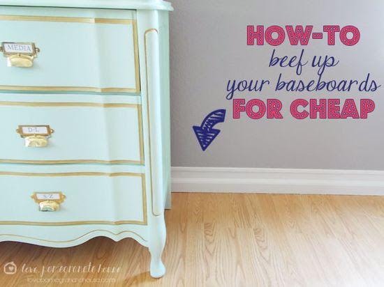 How to beef up your baseboards for cheap by Love Pomegranate House