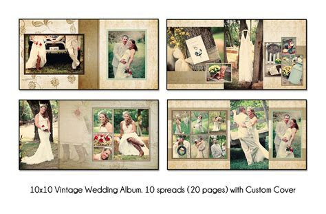 15 Free Wedding Album Layout Templates Images   Wedding