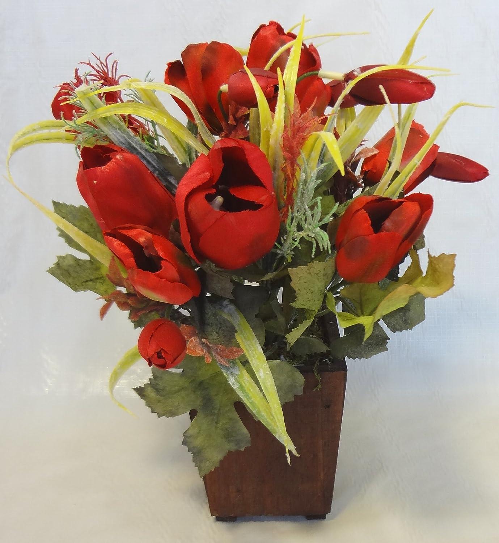 12\u0026quot; Red Tulip Flower Arrangement Artificial Flowers Prices!  dfururjaa