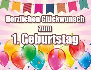 1 Geburtstag Glückwünsche