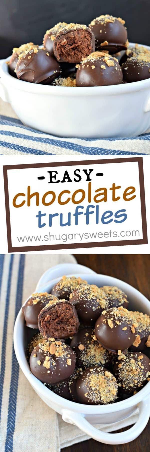 Easy Chocolate Truffles - Shugary Sweets