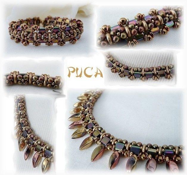 """Schéma ...Bracelet et collier   """"Florine"""""""