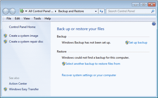 windows backup restore