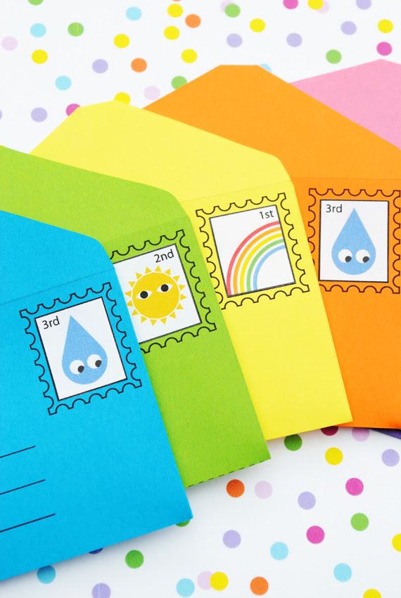 DIY play envelopes & stamps