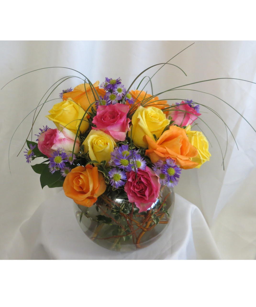 Houston flower delivery bowl of roses