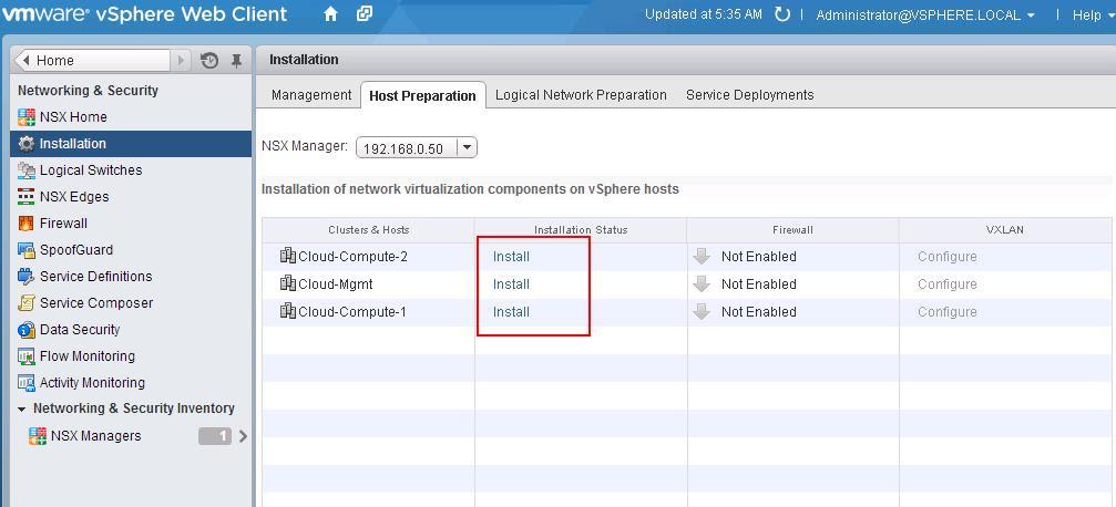 Vmware Nsx Installation Part 6 Preparing Cluster And Hosts For Nsx