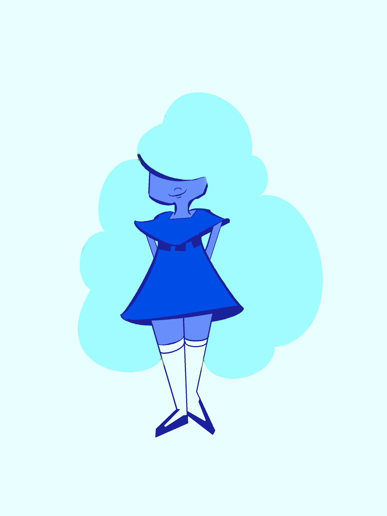 I doodled sapphire and i'm pretty happy with how it turned out! ♡