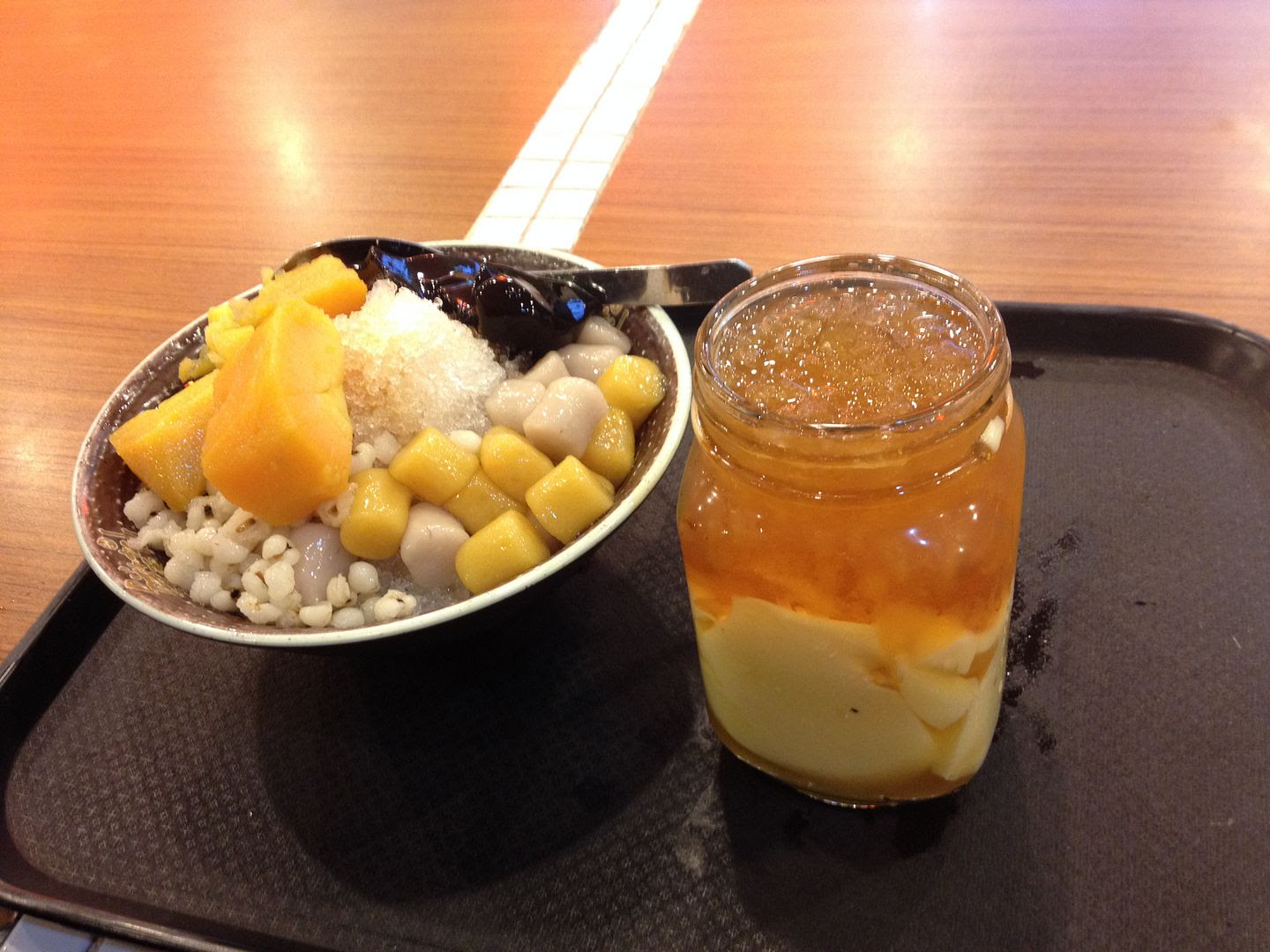 Taiwanese dessert--doughballs, barley, sweet potatoes, shaved ice, sesame jelly, tofu . . . photo 2013-10-15211544_zpsbe4020cf.jpg