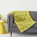 Gold and Yellow Tartan Plaid Throw