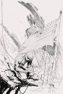 Spider-Man, tributo alle vittime dell'11 Settembre, di Gabriele Dell'Otto