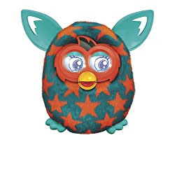 Furby Boom Orange Stars Plush Toy