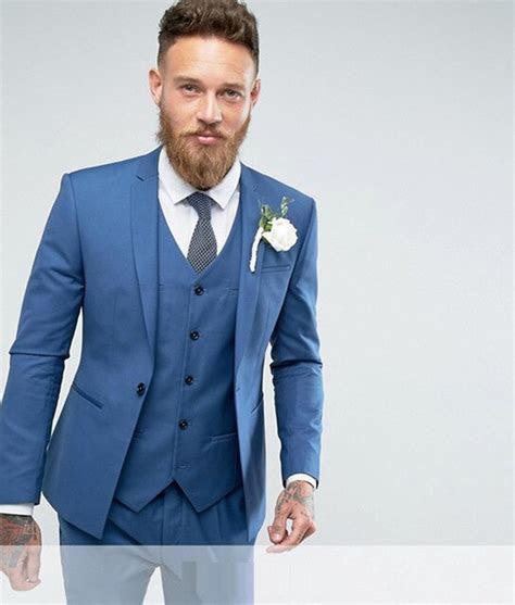 2018 Morning Style light Blue Groom Tuxedos Best Man for