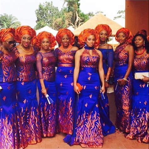 nigerian wedding hottest unique aso ebi colour combination
